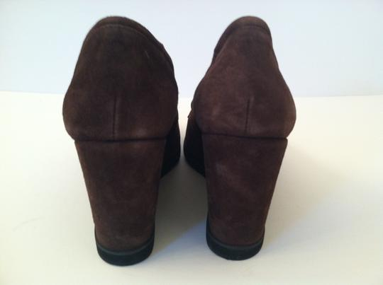 Andre Assous Brown Suede Wedges