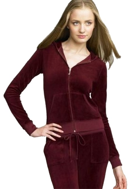 Preload https://img-static.tradesy.com/item/2030684/juicy-couture-maroon-velour-classic-hoodie-zipup-long-sleeve-iconic-activewear-jacket-size-8-m-29-30-0-0-650-650.jpg