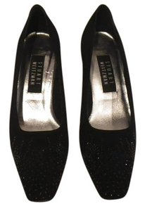 Stuart Weitzman Pumps Black fabric with rhinestone sprinkles on tip Formal