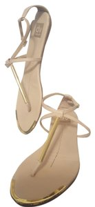 Dolce Vita Thong Gold Highlights Beige Sandals