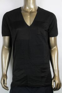 Bottega Veneta Black Men's V-neck Tee-shirt It 54/Us 44 299840 Shirt