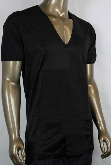 Bottega Veneta Black Men's V-neck Tee-shirt It 54/Us 44 299840 Shirt Image 1