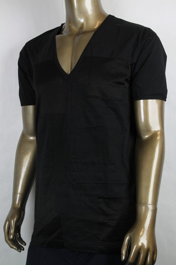 Bottega Veneta Black Men's V-neck Tee-shirt It 54/Us 44 299840 Shirt Image 2