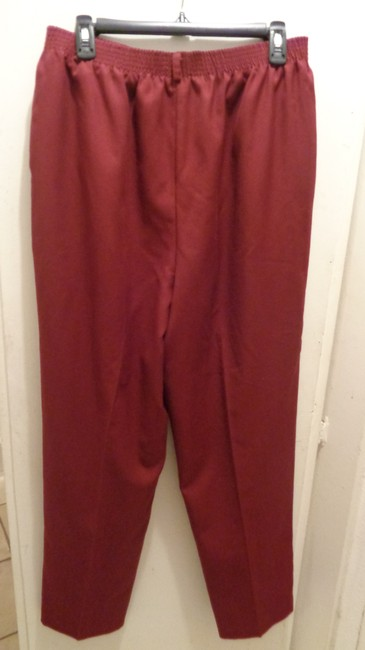 Koret Straight Pants Burgundy Image 1