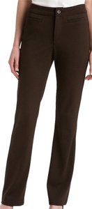 NYDJ Trousers Ponte Boot Cut Knit Boot Cut Pants Brown