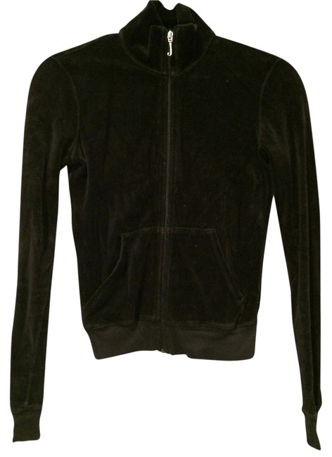 Juicy Couture Velour Long Sleeve Classic Iconic Hoodie Zip Up Image 1