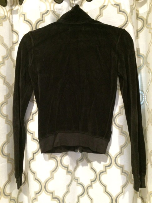 Juicy Couture Velour Long Sleeve Classic Iconic Hoodie Zip Up Image 3