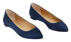 Ann Taylor Suede Navy Blue Flats