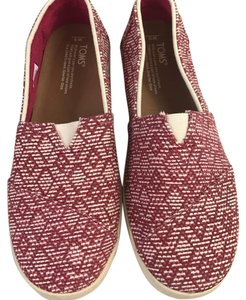 TOMS Red & White Flats