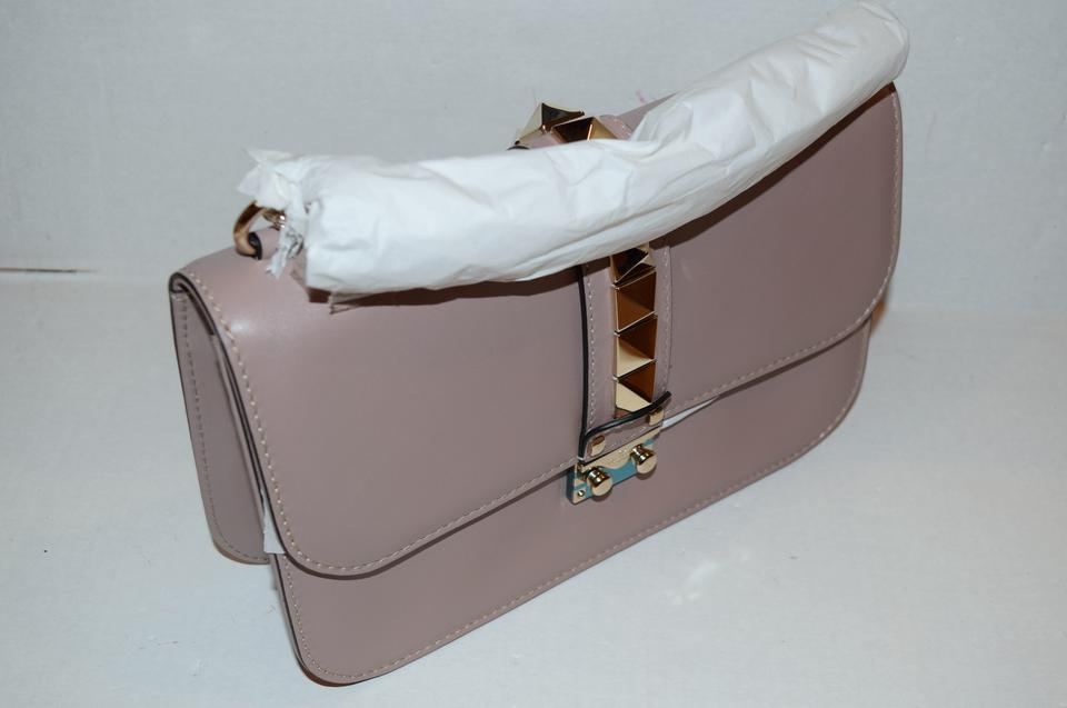 Leather Bag Lock Vitello Rockstud Medium Body Cross Beige Glam Nude Garavani Valentino xq8XZPZ