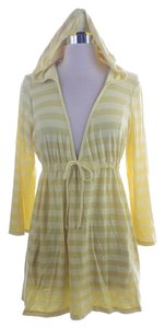 Ella Moss Striped Coverup Dress Size Top Yellow