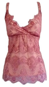 New York & Company Lace Lacy Romantic Feminine Layered Top Purple