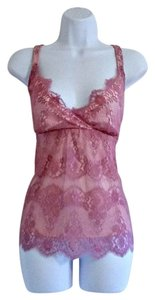 New York & Company Lace Lacy Romantic Feminine Layered Top Lavender