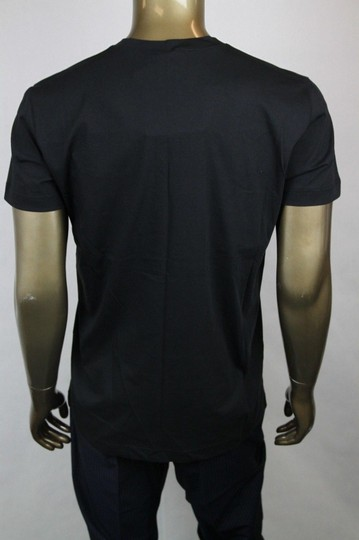 Bottega Veneta Black W Men's V-neck T-shirt W/Cutouts It 52/Us 42 306410 Shirt Image 3