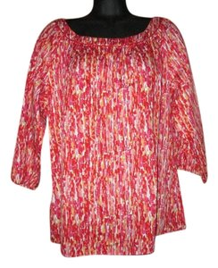 Liz & Co. Boho Flowy Abstract Top Multicolored