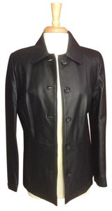 Croft & Barrow Leather Button Down Dressy Small Size 6 Leather Jacket