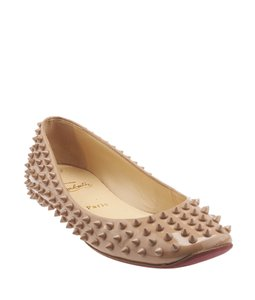 Christian Louboutin Patent Leather Louboutin Tan Flats