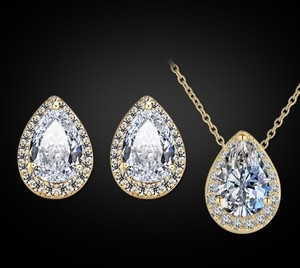 Gold Plated Water Drop Necklace Set