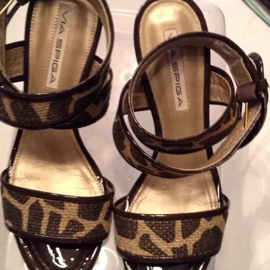 Via Spiga gold and brown Sandals Image 8