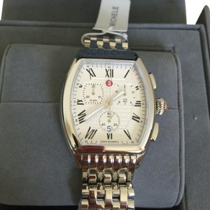 Michele NWT STAINLESS RELEVE LADIES CHRONOGRAPH WATCH MWW19A000019