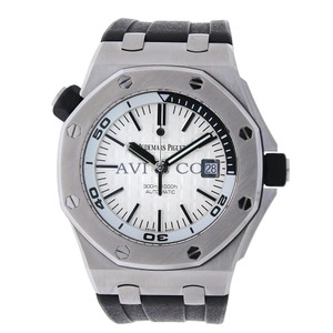 Audemars Piguet Pre-Owned Royal Oak Offshore Steel Divers Watch White Dial