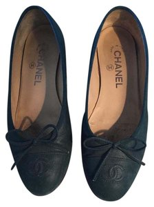 Chanel blue-teal Flats