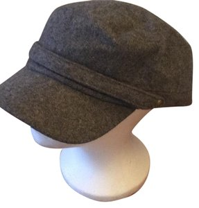 newsboy gray flannel cap hat wool blend