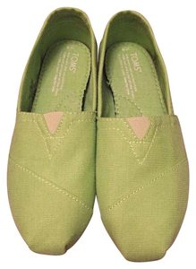 TOMS Canvas Lime Green Flats