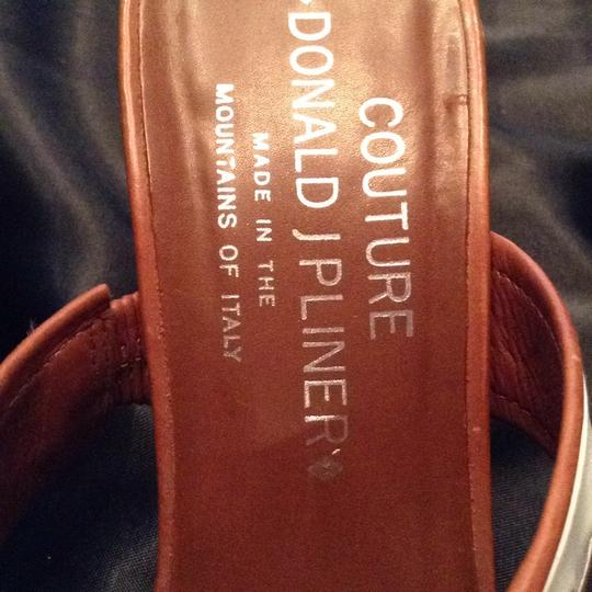 Donald J. Pliner off white, and tan Sandals Image 1