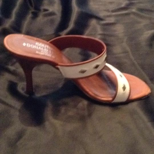 Donald J. Pliner off white, and tan Sandals Image 6