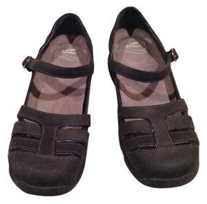 Dansko Maryjanes Nubuck Leather Comfortable Slip Resistant Soles Charcoal Black Flats