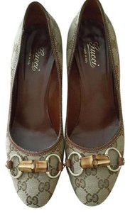 Gucci Bamboo Signature Luxury Brown Pumps