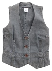 Marc Jacobs Gray Denim Vest Size 2 Top Blue