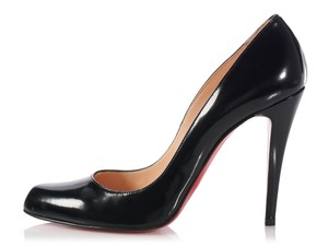 Christian Louboutin Red Heels Round Toe Classic Black Pumps