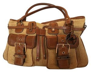 Michael Kors Satchel in Tan & Brown