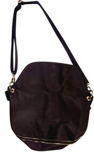 deux lux Very Rarely Worn PLUM W GOLD HARDWARE Messenger Bag
