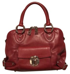 Marc by Marc Jacobs Satchel in Dark Red