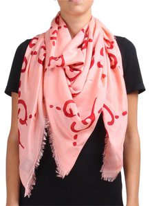Gucci Ghost Pink / Red Writer Scarf