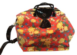 Betsey Johnson Weekender Sequined Multicolor Sequined Travel Bag
