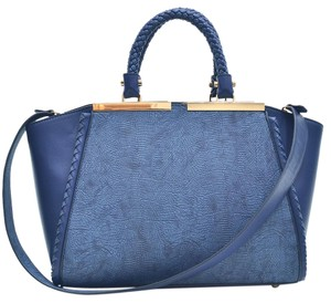 Other Vintage Classic Big Handbag The Treasured Hippie Professional Satchel in Navy Blue