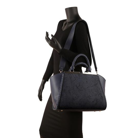 Other Vintage Classic Big Handbag The Treasured Hippie Professional Satchel in Navy Blue Image 1