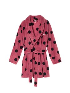 Victoria's Secret NEW Victorias Secret PINK super soft plush Fleece Robe Luxe Polka Dot