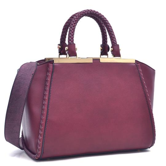 Other Vintage Classic Big Handbag The Treasured Hippie Professional Satchel in Wine Image 1