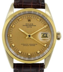 Rolex Rolex 1550 Date 18k/Stainless Steel Champagne Dial Mens Watch