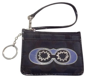 Coach coach black jacquard ID holder