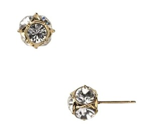 Kate Spade NWT KATE SPADE LADY MARMALADE STUD EARRINGS GOLD CLEAR W DUST BAG