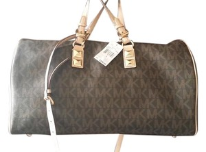 Michael Kors Brown Signature Travel Bag