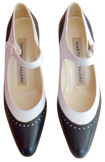 Martinez Valero Dark Blue and White Pumps