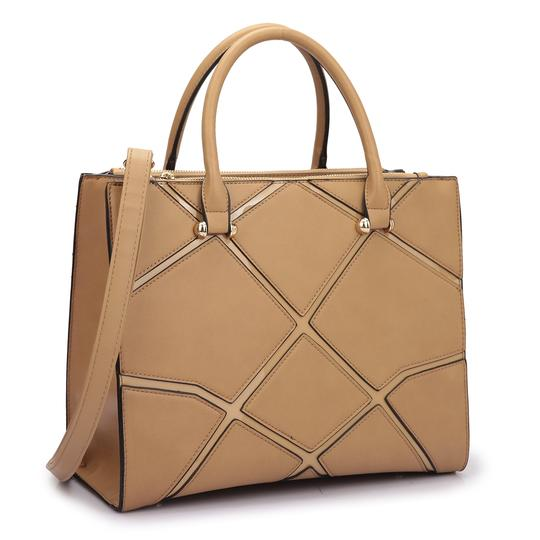 Preload https://img-static.tradesy.com/item/20307947/classic-with-front-crosshatch-patch-design-tan-saffiano-faux-leather-satchel-0-0-540-540.jpg