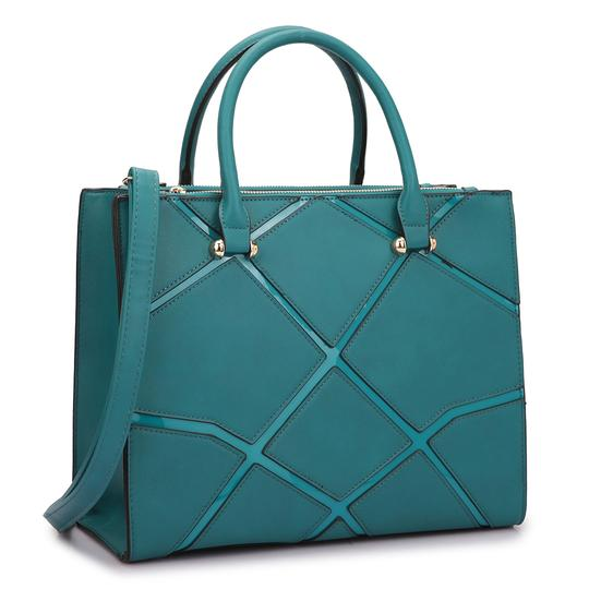 Preload https://img-static.tradesy.com/item/20307957/classic-with-front-crosshatch-patch-design-turquoise-saffiano-faux-leather-satchel-0-0-540-540.jpg